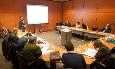 Vista general de la sala durante la intervención de Augusto Baena, socio de Comunicaciones, Medios y Tecnología de Oliver Wyman.
