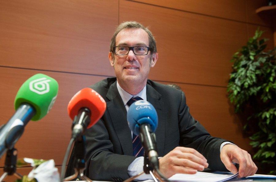 Ransés Pérez Boga, presidente de la Asociación de Inspectores de Hacienda del Estado (IHE) durante su ponencia en la Tercera Jornada del Curso de Periodismo de la APIE.