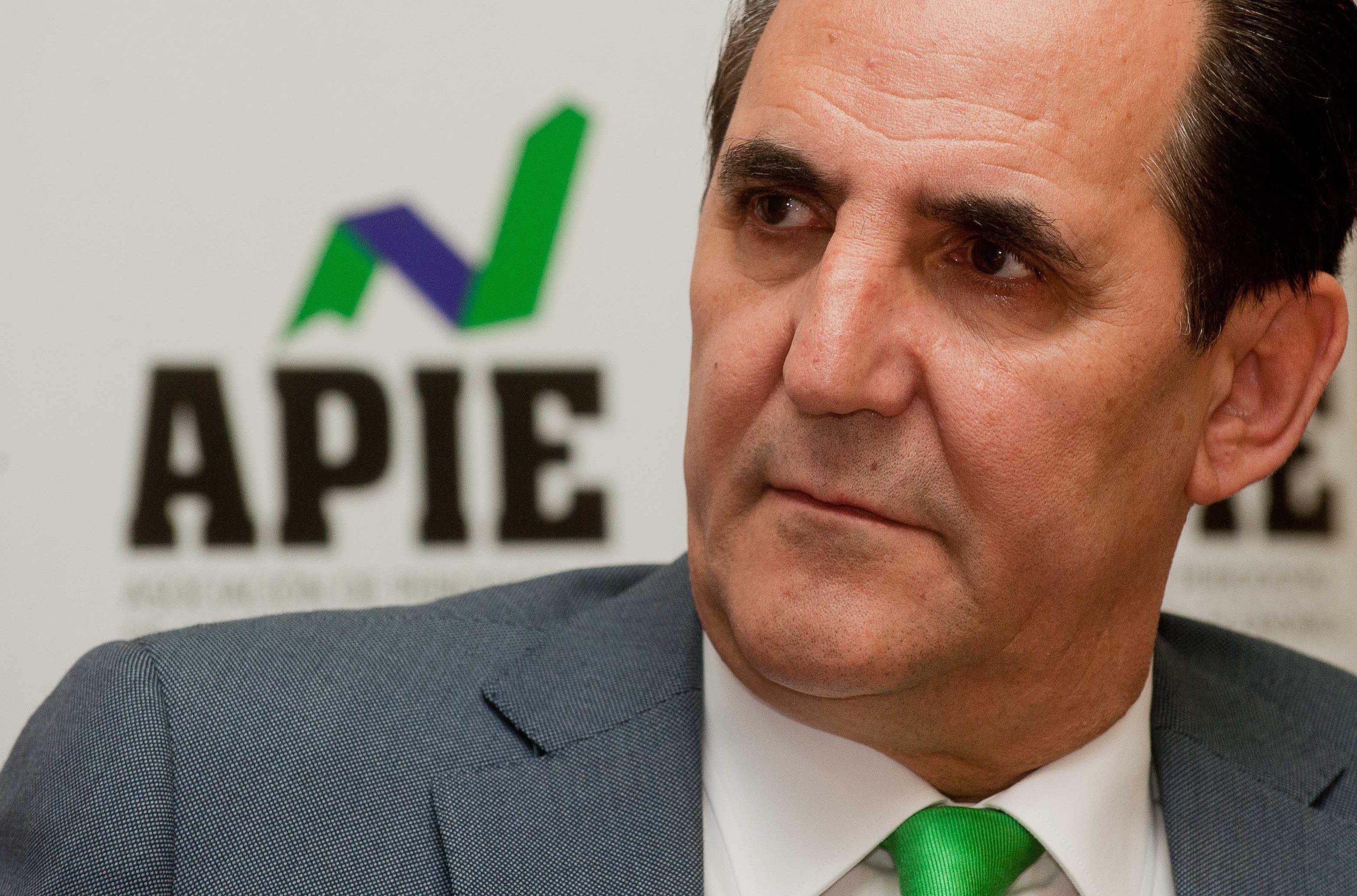 José Rolando Álvarez, Presidente de SGR-CESGAR, en un momento del desayuno informativo sobre financiación organizado por APIE.