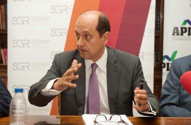Josep Lores, Vicepresidente de SGR-CESGAR en un momento del desayuno informativo sobre financiación organizado por APIE.