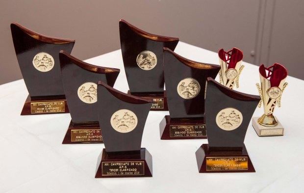 Los trofeos del año, a la espera de caer en manos de los ganadores correspondientes.