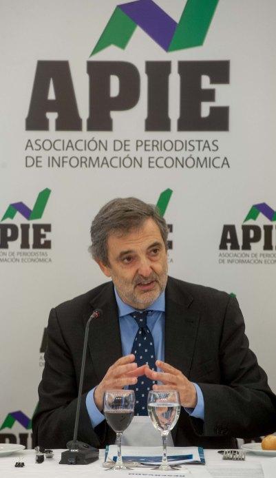 Luis Miguel Gilpérez, presidente de Telefónica España, en el almuerzo de prensa con que concluyó la tercera jornada del XXIX Curso de Economía para Periodistas organizado por APIE con la colaboración del Banco Popular.