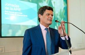 Jaime Echegoyen, presidente de Sareb, durante su intervención en el curso de economía organizado por la APIE en la Universidad Menéndez Pelayo de Santander.