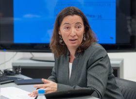 Susana Graupera, directora del área de Corporate de Atrevia, durante la presentación del XII Informe Juntas Generales de Accionistas 2016.