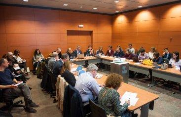 Vista general del debate sobre pensiones que tuvo lugar en la segunda jornada del Curso de Economía organizado por APIE.