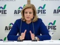 Fátima Báñez, Ministra de Empleo y Seguridad Social, durante el almuerzo de prensa con que concluyó la segunda jornada del XXX Curso de Economía organizado por APIE y el Banco Popular.