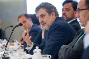 Luis Miguel Gilpérez, Presidente de Telefónica España, en el almuerzo de prensa con que concluyó la Cuarta Jornada del Curso de Economía para periodistas organizado por APIE.