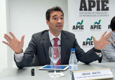 Íñigo Mato, Managing Director de Global Debt Sale de TDX Indigo, en el desayuno de prensa organizado por APIE.