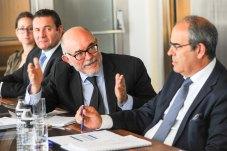 Arcadio Gutiérrez Zapico, Director General del Club español de la Energía, durante el debate sobre energía que se celebró en la V sesión del curso de economía organizado por APIE.