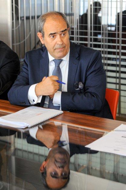 Ignacio Araluce, presidente de Foro Nuclear, durante el debate sobre energía que se celebró en la V sesión del curso de economía organizado por APIE.