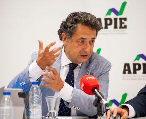Julio Lesmes, vocal y portavoz de IAF, durante la jornada sobre investigación aduanera y fiscal organizada por la APIE.