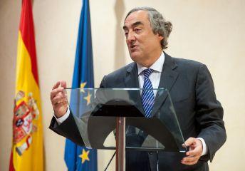 Juan Rosell, ex Presidente de la CEOE, durante su discurso de agradecimiento por recibir la placa de Socio de Honor de la APIE.