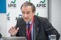 Pablo Fernández, Profesor del Departamento de Dirección Financiera de IESE Business School, durante su intervención en la II Jornada del XXXII Curso de Economía organizado por APIE.