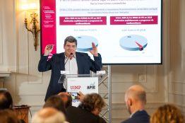 José Luis Escrivá, presidente de la Autoridad Independiente de Responsabilidad Fiscal (AireF), durante su intervención en el Curso de Economía organizado por la APIE en la UIMP.