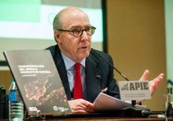 John de Zulueta, Presidente del Círculo de Empresarios, durante la presentación del informe Transformación del Modelo Productivo.