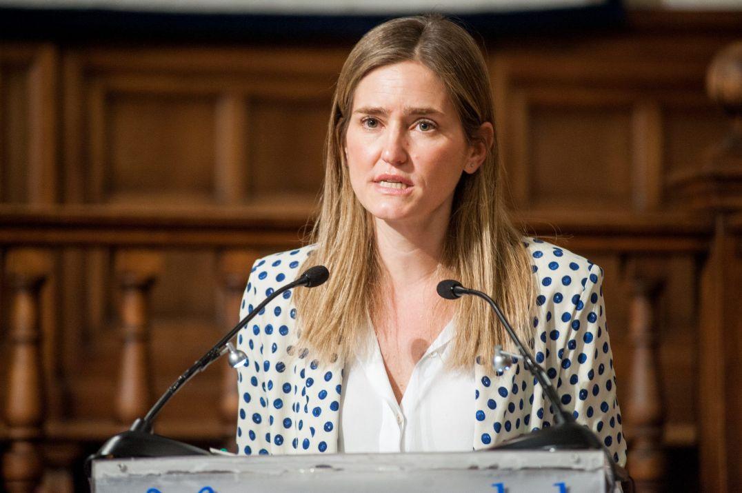 Sara Aagesen Muñoz, Secretaria de Estado de Energía, en la clausura de la jornada sobre Transición Energética organizada por la APIE en la Universidad de Alcalá de Henares