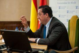 Oscar Arce, Director General de Economía y Estadística del Banco de España, durante su intervención en las Jornadas de Economía organizadas por APIE en la Universidad de Alcalá de Henares.