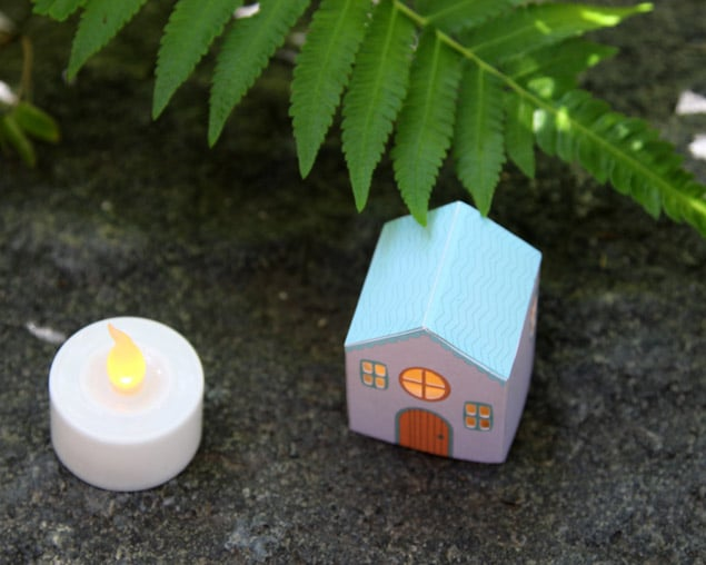 apieceofrainbow paper houses 12 - DIY: Paper House Luminaries