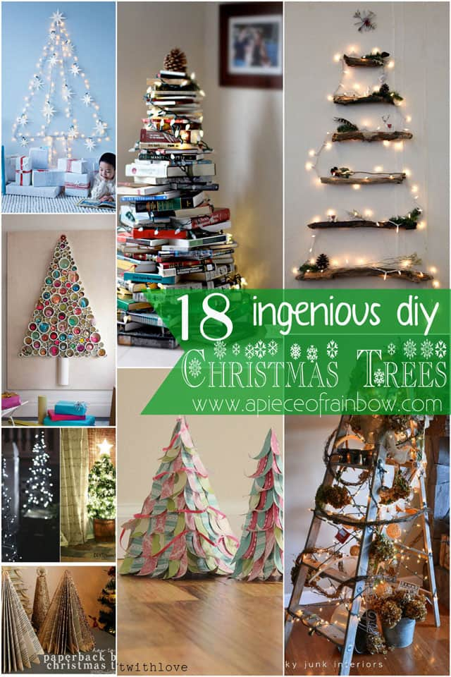 christmas trees apieceofrainbow 2 - 16 Favorite Easy Gift Wrapping Ideas (Many are Free!)