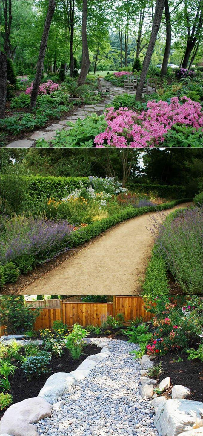 25 Most Beautiful DIY Garden Path Ideas - A Piece Of Rainbow on Backyard Walkway Ideas id=93413