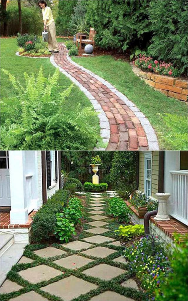 25 Most Beautiful DIY Garden Path Ideas - A Piece Of Rainbow on Backyard Walkway Ideas id=49003