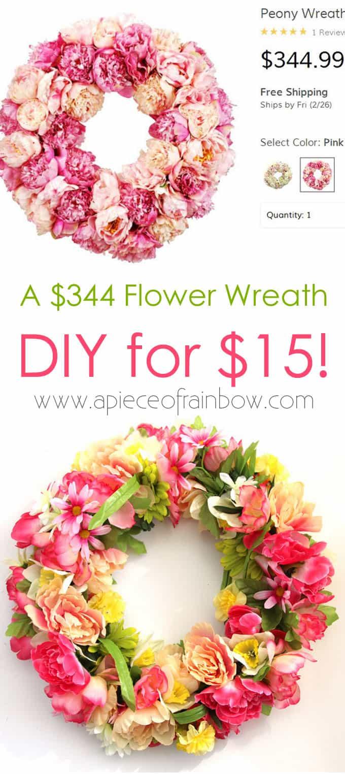 Make A 344 Flower Wreath For 15 A Piece Of Rainbow