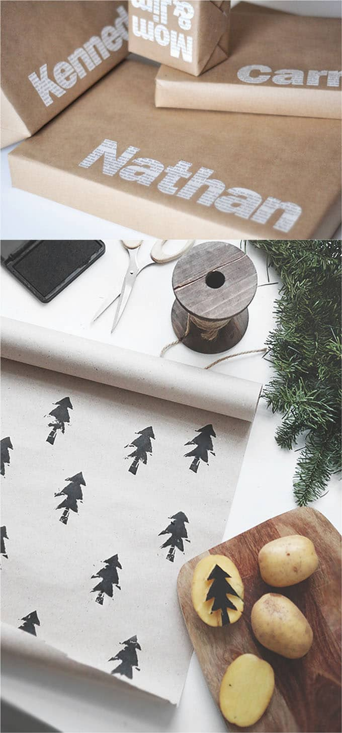 16 gift wrapping hacks apieceofrainbow 4 - 16 Favorite Easy Gift Wrapping Ideas (Many are Free!)