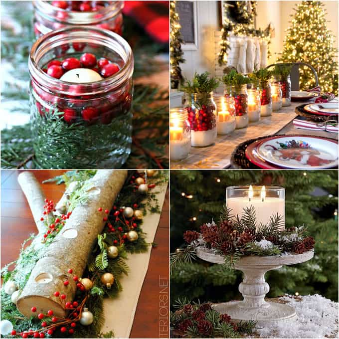Christmas table decorations cheap for Cheap table decoration ideas