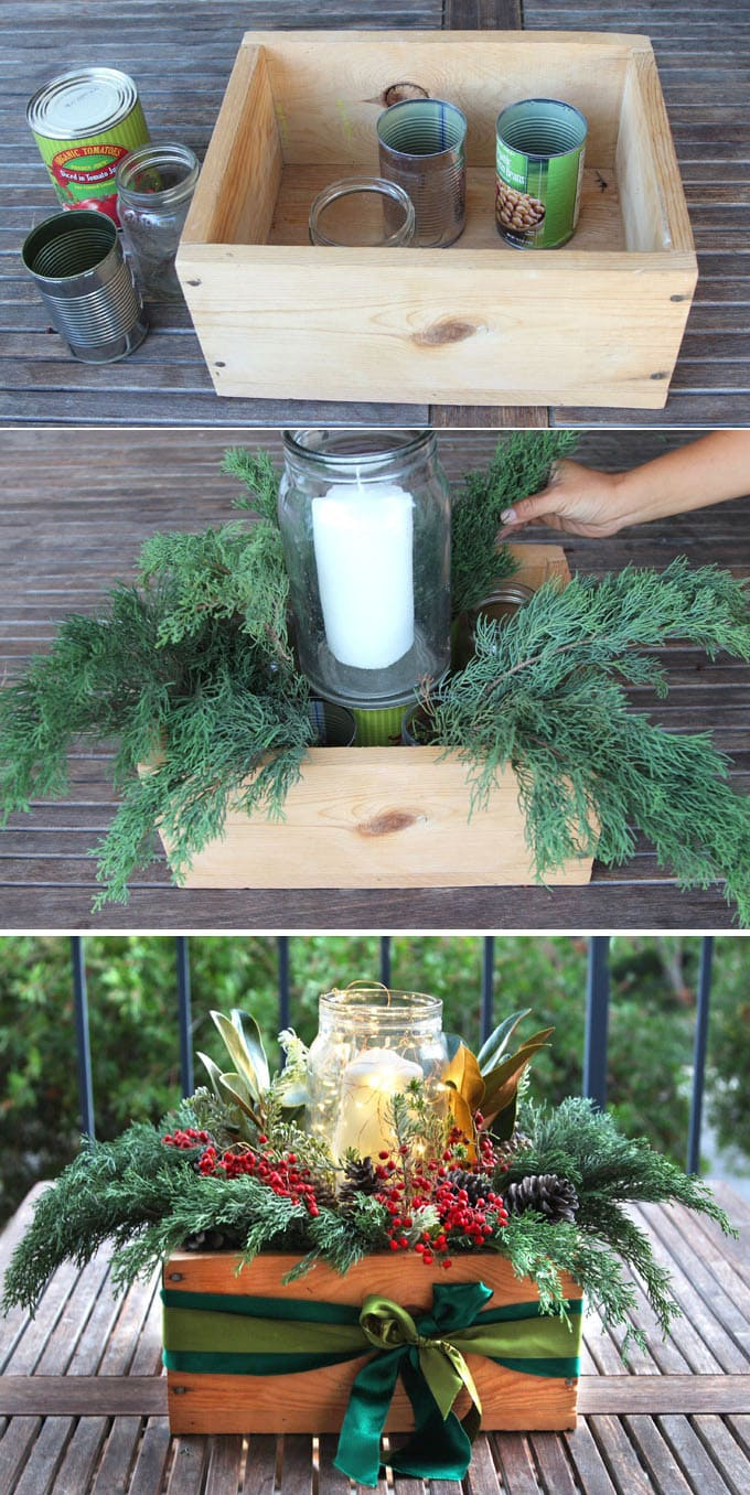 Beautiful Amp Free 10 Minute DIY Christmas Centerpiece A
