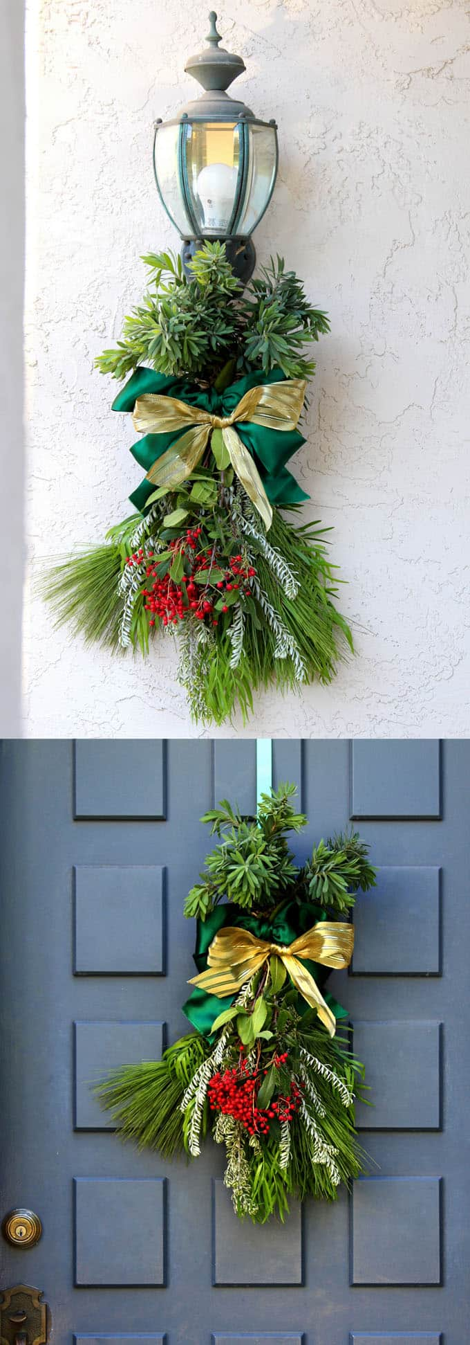 easy DIY Christmas swag apieceofrainbowblog 1 - The Easiest DIY Christmas Swag Ever