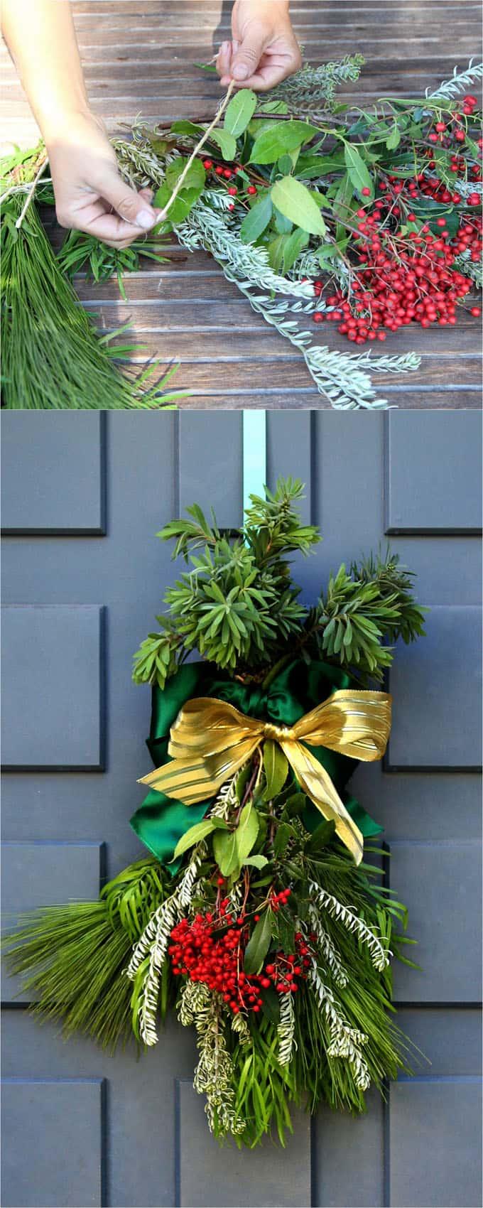 easy DIY Christmas swag apieceofrainbowblog 2 - The Easiest DIY Christmas Swag Ever