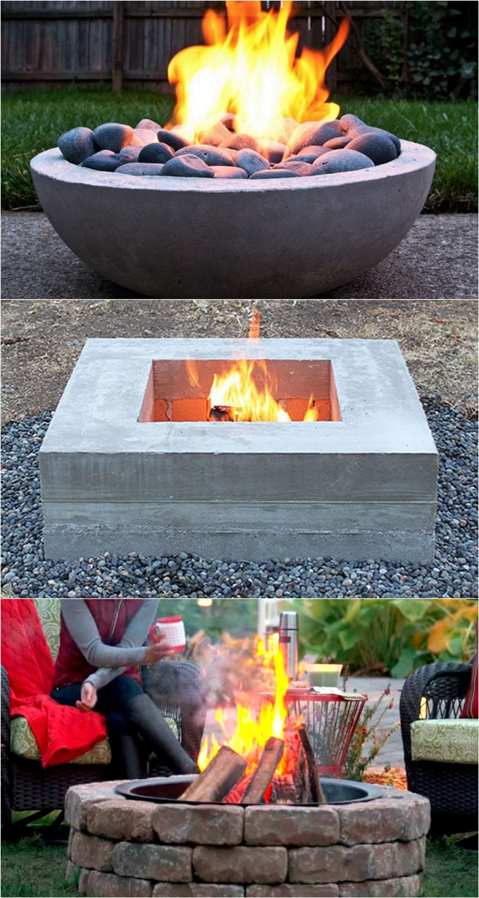 24 Best Outdoor Fire Pit Ideas to DIY or Buy - A Piece Of ... on Backyard Fire Pit Ideas Diy id=94575