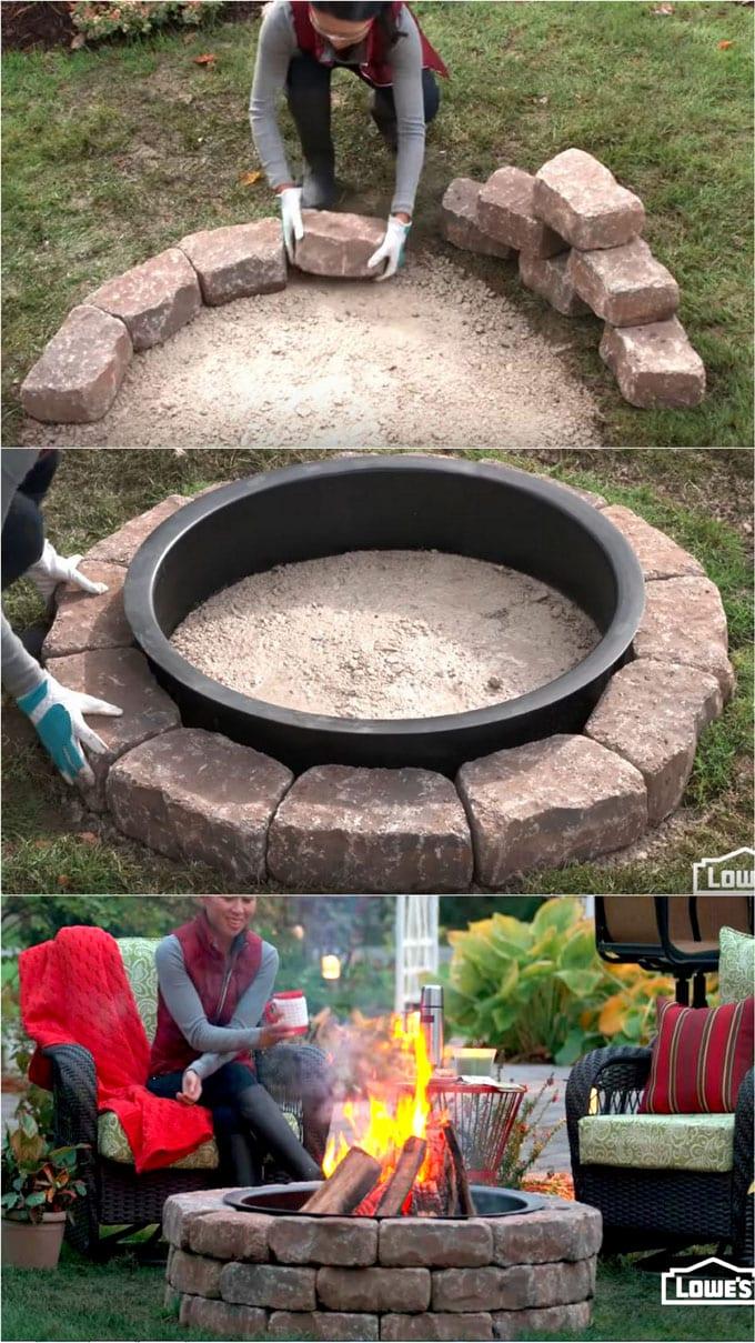 24 Best Fire Pit Ideas to DIY or Buy ( Lots of Pro Tips ... on Backyard Fire Pit Ideas Diy id=94128