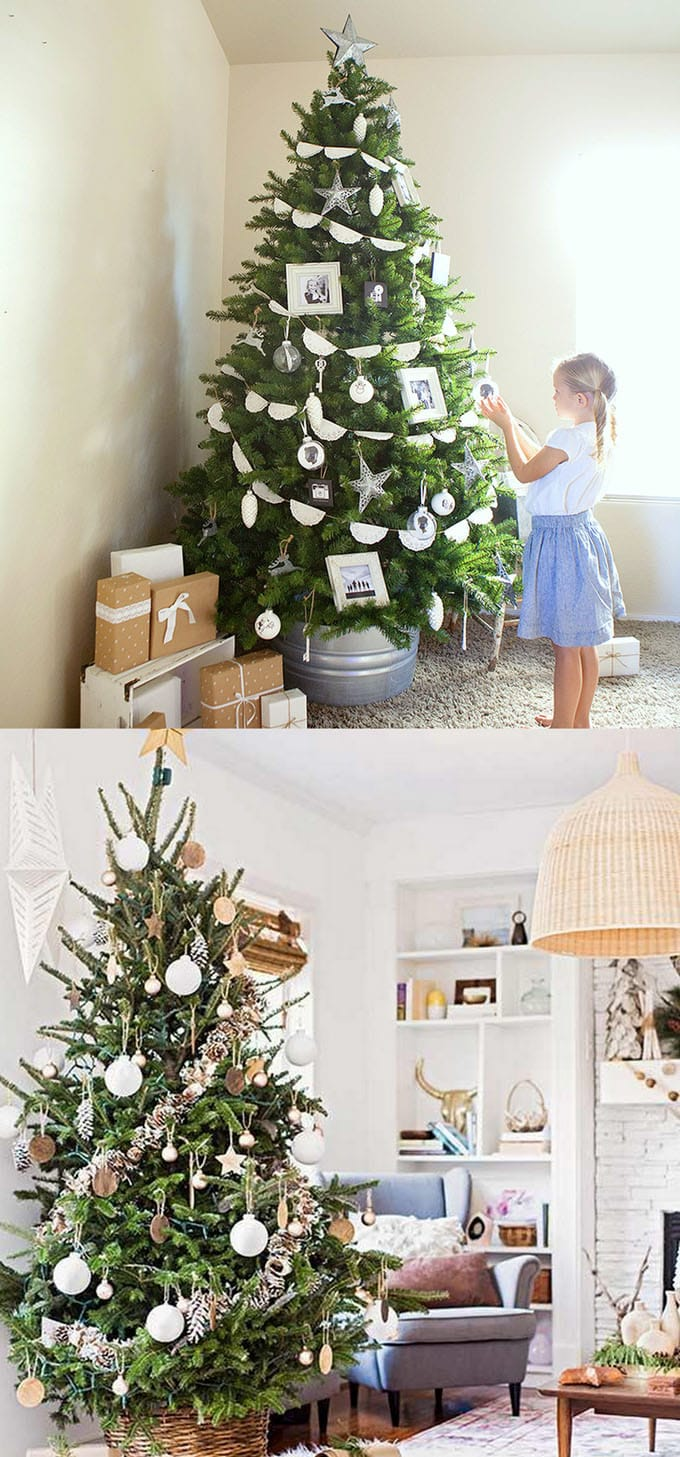 christmas tree decorating ideas elegant decorations how to decorate white red ribbon tutorials apieceofrainbow 1 - 42 Gorgeous Christmas Tree Decorating Ideas { & Best Tutorials!}