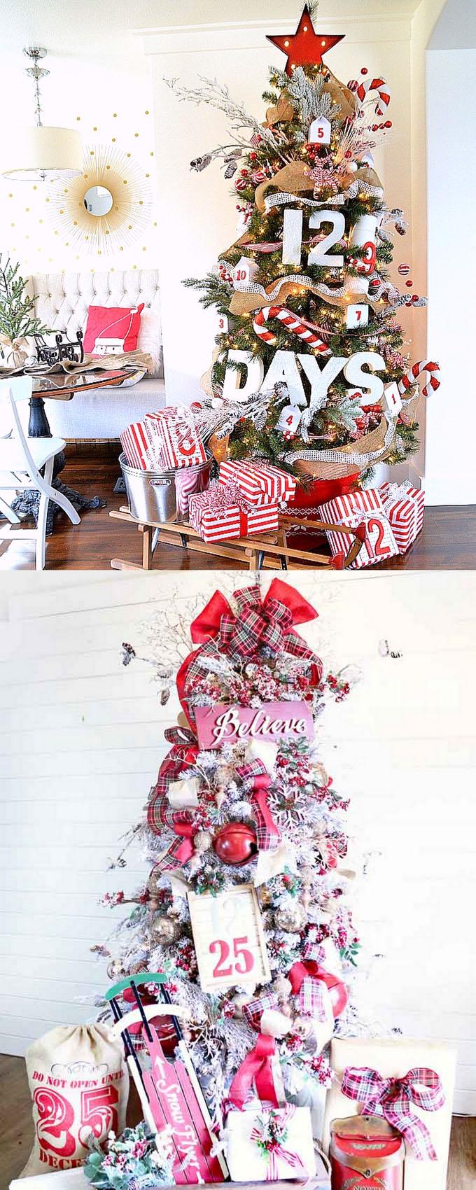 christmas tree decorating ideas elegant decorations how to decorate white red ribbon tutorials apieceofrainbow 10 - 42 Gorgeous Christmas Tree Decorating Ideas { & Best Tutorials!}