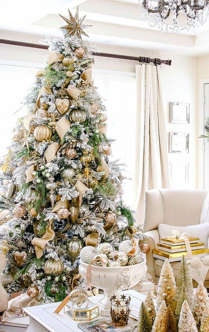 christmas tree decorating ideas elegant decorations how to decorate white red ribbon tutorials apieceofrainbow 22 - 42 Gorgeous Christmas Tree Decorating Ideas { & Best Tutorials!}