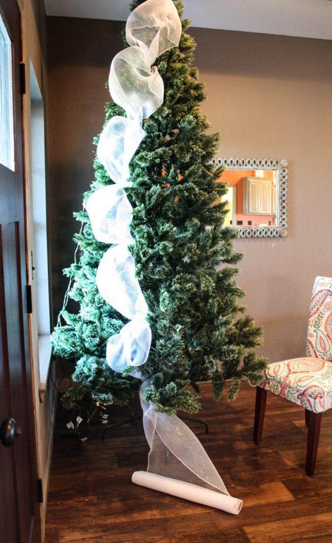 christmas tree decorating ideas elegant decorations how to decorate white red ribbon tutorials apieceofrainbow 3 1 - 42 Gorgeous Christmas Tree Decorating Ideas { & Best Tutorials!}