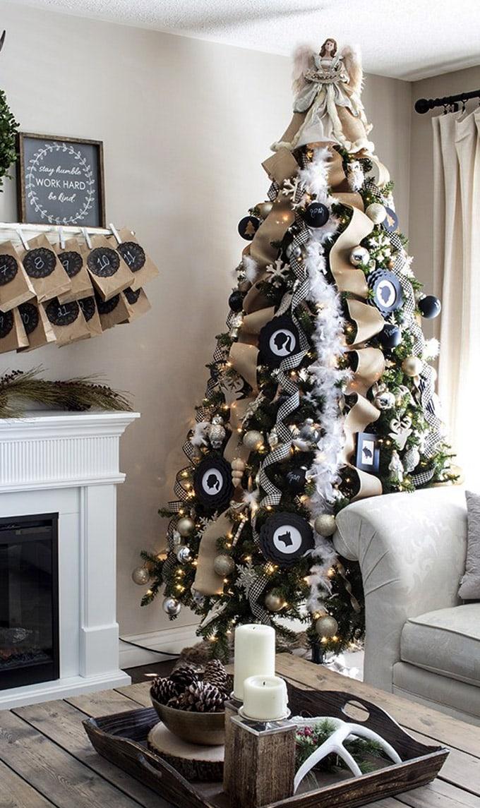 christmas tree decorating ideas elegant decorations how to decorate white red ribbon tutorials apieceofrainbow 3b - 42 Gorgeous Christmas Tree Decorating Ideas { & Best Tutorials!}