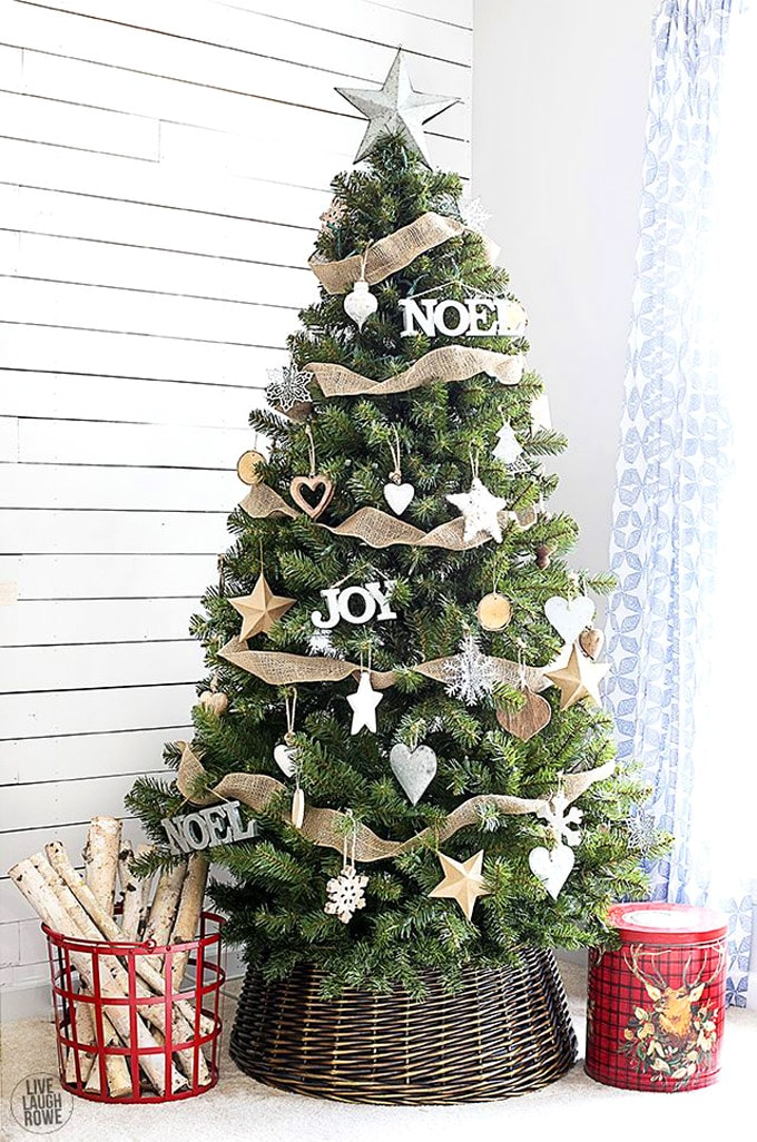 christmas tree decorating ideas elegant decorations how to decorate white red ribbon tutorials apieceofrainbow 5 1 - 42 Gorgeous Christmas Tree Decorating Ideas { & Best Tutorials!}