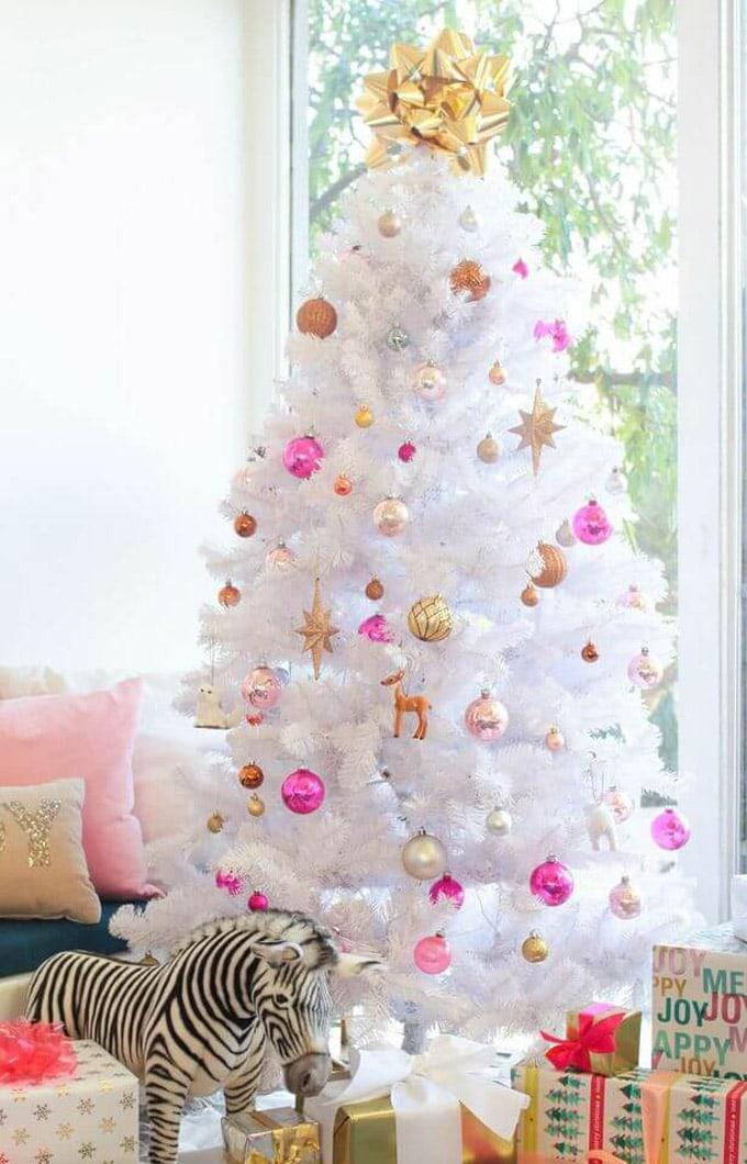 christmas tree decorating ideas elegant decorations how to decorate white red ribbon tutorials apieceofrainbow 5c - 42 Gorgeous Christmas Tree Decorating Ideas { & Best Tutorials!}