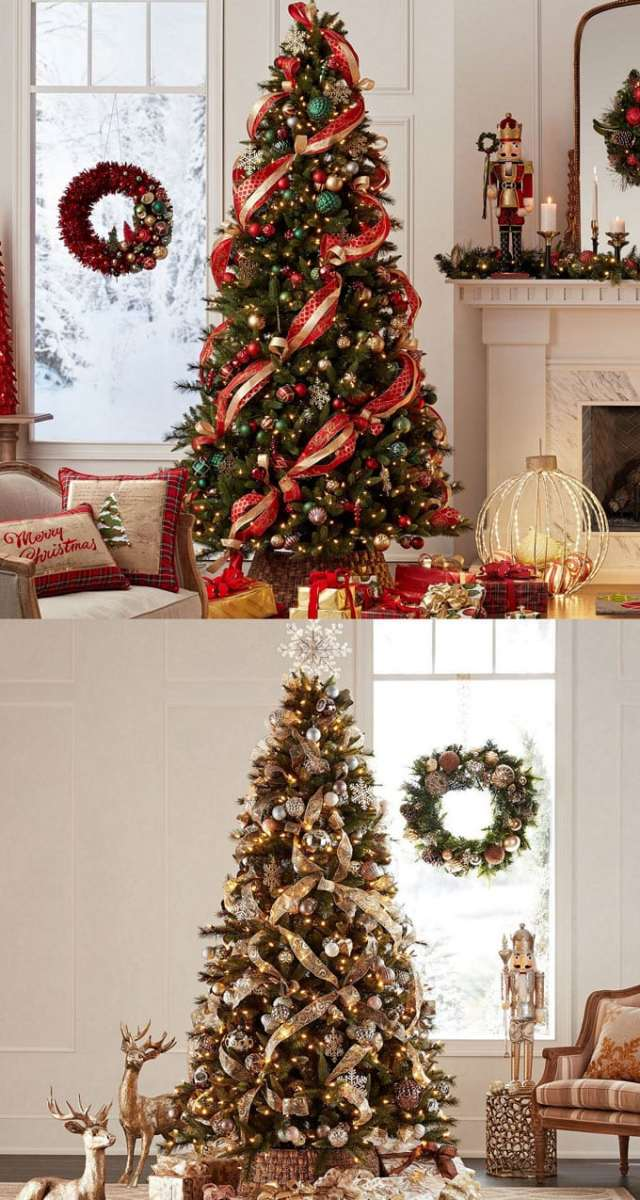 christmas tree decorating ideas elegant decorations how to decorate white red ribbon tutorials apieceofrainbow 7