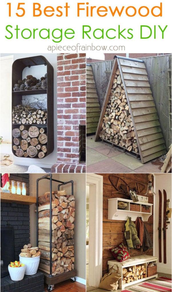 firewood rack storage ideas