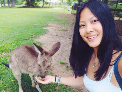 selfie with a kanga