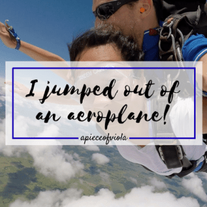 I Jumped out of an Aeroplane!