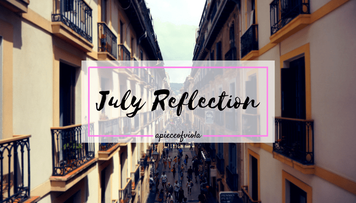 July Reflection 2017