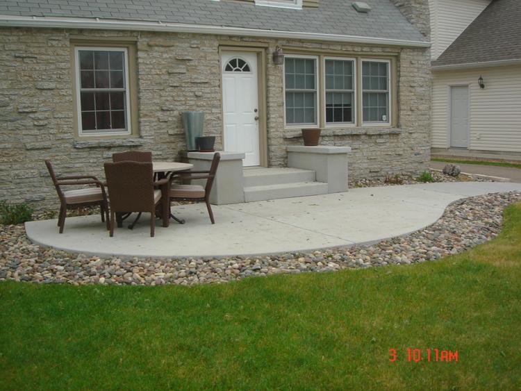 Concrete Patios - A. Pietig Concrete & Brick Paving on Concrete Slab Backyard Ideas id=15687