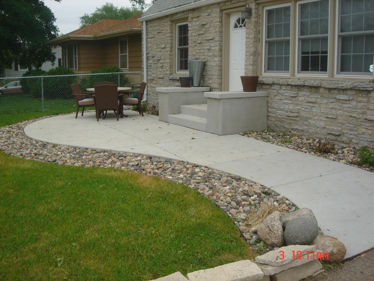 Concrete Patios - A. Pietig Concrete & Brick Paving on Concrete Slab Backyard Ideas id=48364