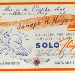 Joe's first solo flight on May 14, 1942.