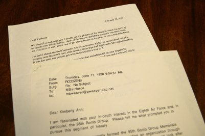 Letter from Bob Noyes, and email from Bob Cozens