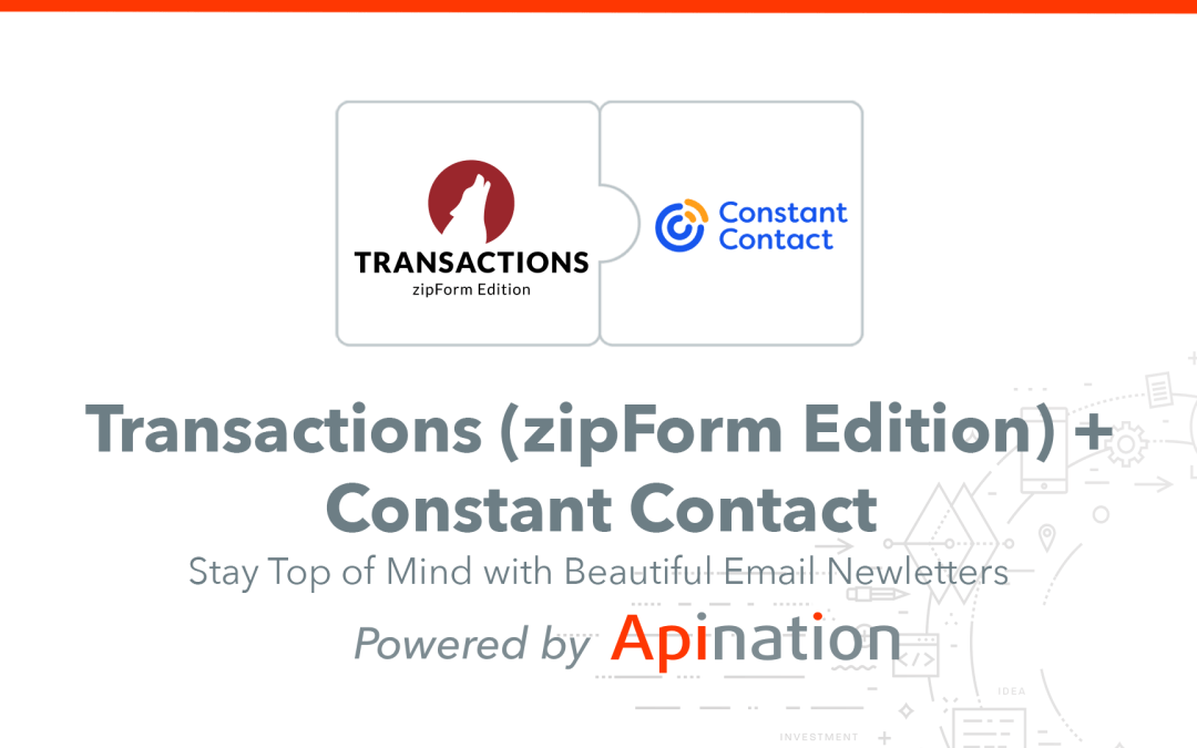 How to Setup the Transactions (zipForm Edition) and Constant Contact Sync